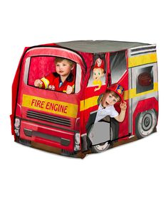 Look at this Fire Engine Tent on #zulily today!