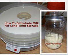 Sušení mléka