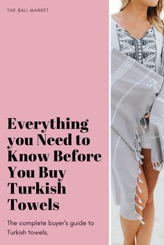 In this guide you'll learn: 1. What is a Turkish Towel 2. How to Use a Turkish Towel 3. How to Care for Your Turkish Towels 4. FAQ About Turkish Towels
