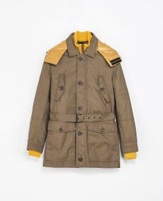 12a2cf47 Zara TAN PARKA WITH COLOURED LINING Ref. 0706/337 249.00 CAD OUTER SHELL  100% COTTON LINING 100% POLYESTER FILLING 100% POLYESTER