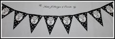 Pennant Banner Bunting #Silver #Grey #Gray #Glitter #Black #Hearts #Engagement #Party #Colour #Schemes #Bunting #Party #Decorations #Ideas #Banners #Cupcakes #WallDisplay #PopTop #JuiceLabels #PartyBags #Invites #KatieJDesignAndEvents #Personalised #Creative