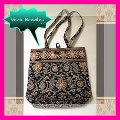 Vera Bradley Coffee Tote Vera Bradley Coffee Tote. Very good condition. No marks or tears. Vera Bradley Bags Totes