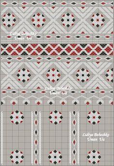Схема частини нарукавної композиції жіночої сорочки з Сіверщини b05cd3919d0e2