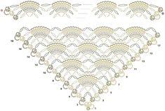 красивые мотивы крючком со схемами для шалей: 21 тыс изображений найдено в Яндекс.Картинках