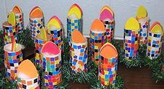 """Mosaic """"Candles"""" - Pinned by @PediaStaff – Please visit http://ht.ly/63sNt for all (hundreds of) our pediatric therapy pins"""