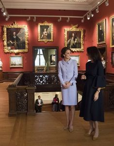 Her Royal Highness The Duchess of Cambridge  visited the  Mauritshuis in The Hague, Netherlands.. The visit was planned to coincide with the exhibition  At Home in Holland: Vermeer and his contemporaries from the Royal Collection, which includes important genre paintings from the Queens collection.