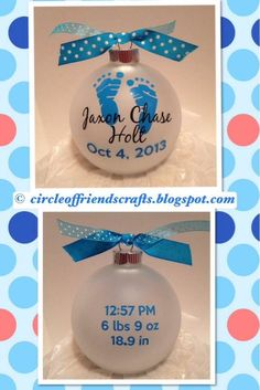 Baby announcement ornaments