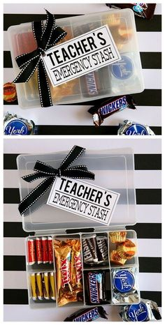 Teachers Emergency Stash | Teacher Appreciation Gift Ideas #appreciationgifts