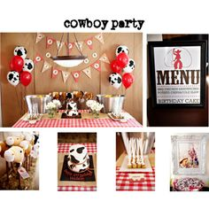 cowboy party, love the cow balloons