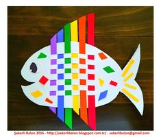 Weaving Rainbow Fish This colorful fish is a fun way to introduce kids to weaving. All you need is construction paper. The post Weaving Rainbow Fish was featured on Fun Family Crafts. Ocean Kids Crafts, Summer Crafts For Kids, Paper Crafts For Kids, Fun Crafts, Art For Kids, Arts And Crafts, Summer Fun, Fish Paper Craft, Kids Diy