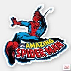 Shop The Amazing Spider-Man Logo Sticker created by marvelclassics. Logo Sticker, Sticker Shop, Skateboard Deck Art, Skateboard Design, Spiderman Stickers, Spiderman Comic Books, Avengers, Sketchbook Cover, Dibujos Cute
