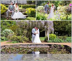 Bride & Groom in the beautiful gardens of Hylands House following their Wedding. Essex wedding photography