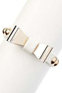 Bow Bracelet. loving gold and white together