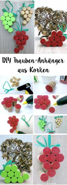 DIY Trauben-Anhänger aus Korken