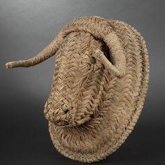 Wicker bull's head, Early 20th Century