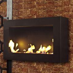 Bensen XL Fireplace Vent less Fireplace from Brasa Fireplace Vent, Wall Mounted Fireplace, Bioethanol Fireplace, Fireplace Design, Wall Fireplaces, Standing Fireplace, Luxury Restaurant, Patio Heater, Fireplace Accessories