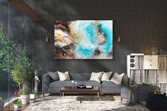 Large Abstract Painting,Large Abstract Painting on Canvas,acrylics paintings,abstract painting,decor art,textured wall decor FY0019