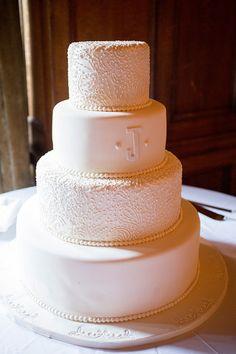 classic monogram cake | Captured Photography #wedding