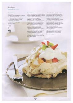 Revista bimby 01 Pavlova, Kitchen Reviews, Food C, I Want To Eat, Recipe Cards, Easy Cooking, Soul Food, Sweet Recipes, Bakery