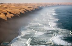 This is the fantastic place where the Namib Desert meets the sea. Namibia Harmony of Nature by Roberto Sysa Moiola