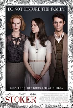 Stoker (2013, Chan-wook Park). Seen in May on TV. My rating 7,5/10