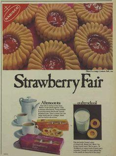 Nabisco strawberry Fair Biscuits Sweet Magazine Advertisement Ad February 1970 Vintage Retro