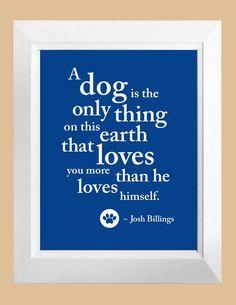 Dog Art Poem Custom Color Digital Print Gift 8 x by DIGITALTOASTER