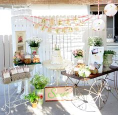 Whimsical and Vintage Chic Teddy Bear and Daisy theme First Bithday Party   Heavenly Blooms