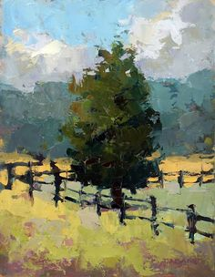 Gold Field Beyond 16x12 oil Trisha Adams $525