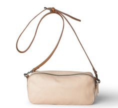 amy zippy bag in nude by ally capellino