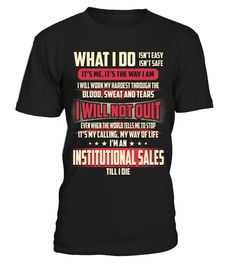 Institutional Sales - What I Do