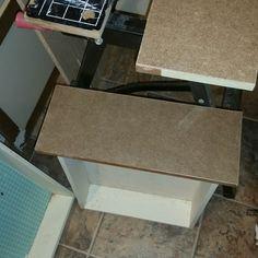 Hardboard on drawer fronts...