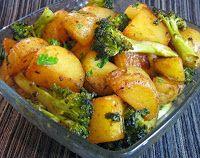 Batata com Brócolis (vegana)