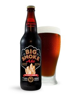 Big Smoke Ale.  Atmosphere Design for Russell Brewing Company and Storm Brewing Company.