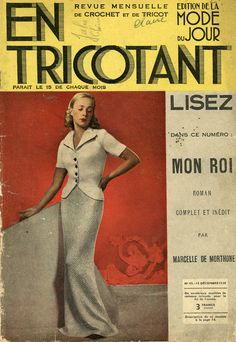 Roman, Vintage Magazine, Mode Crochet, Patience, 1930s, Magazines, Crafting, I Love Books, Two Pieces
