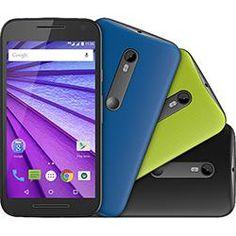 """foto: Smartphone Motorola Moto G (3ª Geração) Colors HDTV Dual Chip Android 5.1 Tela 5"""" 16GB 4G Câmera 13MP - Preto + 2 Capas"""