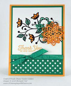 Flourishing Phrases Bundle swap cards shared by Dawn Olchefske #dostamping #stampinup (Diane Vander Galien)