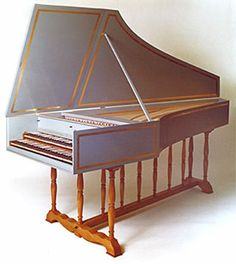 harpsichord | Flemish double-manual harpsichord after Ruckers & Blanchet