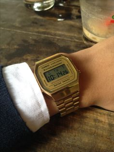 Retro Watches, Antique Watches, Dream Watches, Luxury Watches, Casio Gold Watch, Ring Watch, Retro Aesthetic, Luxury Jewelry, Fashion Details