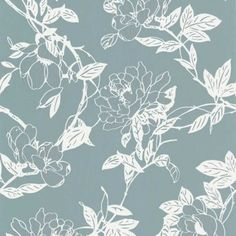 Graham & Brown Jiao Cream & Duck Egg Floral Metallic Wallpaper - B&Q for all your home and garden supplies and advice on all the latest DIY trends Metallic Wallpaper, Wallpaper Decor, Feature Wallpaper, Brown Wallpaper, Damask Wallpaper, Contemporary Wallpaper, Blue Wallpapers, Surface Pattern Design, Textile Design