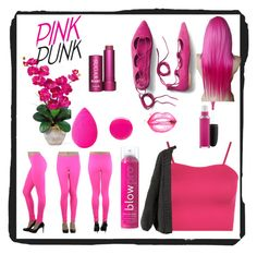 """""""pink  punk 1"""" by inspiredbyart345 ❤ liked on Polyvore featuring WearAll, I Love Mr. Mittens, blow, ToBeInStyle, MAC Cosmetics, beautyblender, Eve Snow, Gap and Fresh"""