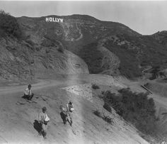 1923 Men Seeding The Hillside During The Construction On The Hollywoodland Sign