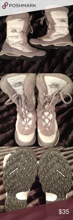 "The North Face ""TNF Winter Grip"" Boots LOOKY LOOKY!!!!  These are in excellent condition. Goose Down in side of shoe. SUPER comfy!! And absolutely warm. The North Face Shoes Winter & Rain Boots"