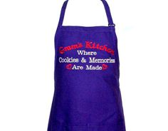 Gram Kitchen Apron, Where Cookies Memories Made, Custom Grandparent Birthday Gift, With Gramma, Nannie. Granny, Mom, SHIPS TODAY, AGFT 1302 Cobbler Aprons, Birthday Gag Gifts, Adult Bibs, Chef Apron, Kitchen Aprons, Sewing Studio, Grandma Gifts, Grandparents, Memories