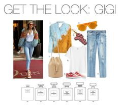 """Get the look: Gigi"" by voluptuoustwiggy ❤ liked on Polyvore featuring True Religion and Chanel"