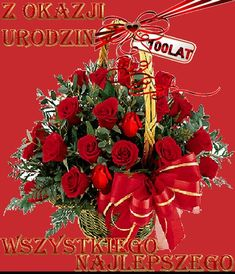 Urodziny i imieniny: Gify urodzinowe Happy Birthday Wishes Cards, Happy Birthday Flower, Happy Birthday Quotes, Beautiful Gif, Beautiful Roses, Good Morning Flowers Gif, I Love You Pictures, Beautiful Pictures, Christmas Wreaths