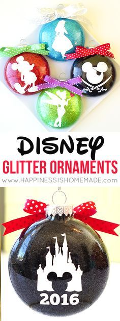 disney-silhouette-glitter-ornaments-for-christmas