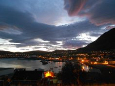 The town of Hammerfest at 2am on Aug 22, 2011.
