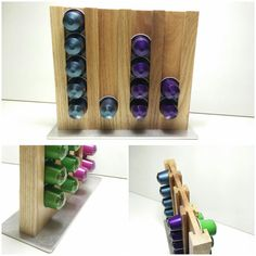 Beautiful Design Nespresso Capsules Holder Wood Oak Coffee Handmade Kitchen Lifestyle storage accessories