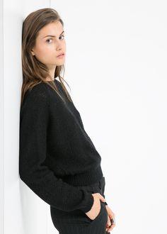 Mohair wool-blend sweater